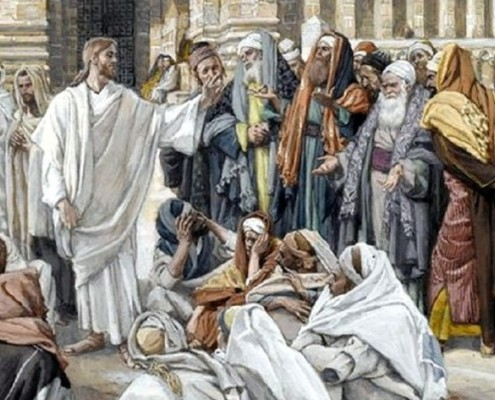 The Pharisees Question Jesus (Les pharisiens questionnent Jésus)-001